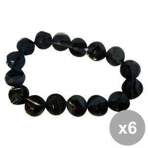 Set 6 DEBBY Bracelet Black Stones Explicit Small Body care