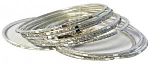 DEBBY Bracciale mirror silver set da 10 - Accessori toiletteria