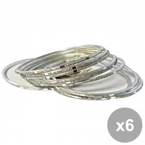 Set 6 DEBBY Bracciale Mirror Silver Set Da 10 Cura del corpo
