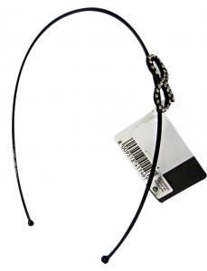 Debby Headband With Staple Rhinestone Black - Accessories Toilets