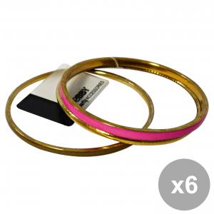 Set 6 DEBBY Bracelet Ethnic Green gold fuscia Body care