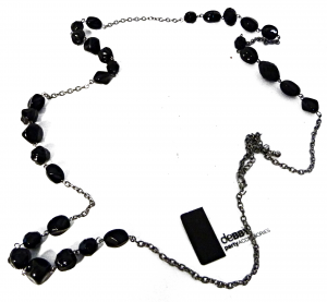 Debby Necklace Long Stones Black - Accessories Toilets