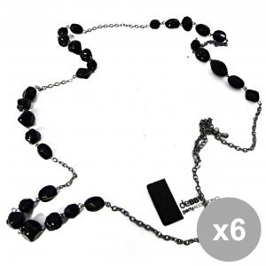 Set 6 Debby Necklace Long Stones Nere Body Care