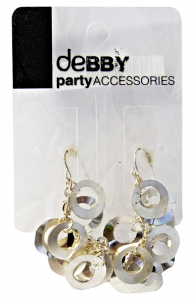 Debby Earrings With Pendants Silver - Accessories Toilets