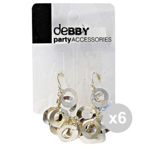 Set 6 Debby Earrings With Pendants Silver Body Care