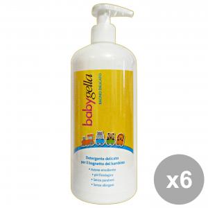 Set 6 BABYGELLA Detergente Delicato Bagnetto 500 Ml.  Linea Bimbo