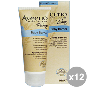 Set 4 Aveeno Baby Cream Barrier Oats-zinc 100 Ml Line Baby