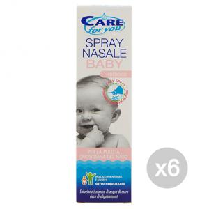 Set 6 CARE FOR YOU Naso Spray Nasale Baby 100 Ml Baby Cura Del Bambino E Neonato