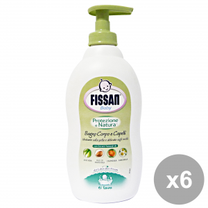 Fissan Set 6 Baby Bathroom Protection Nature 400 Ml Line Baby