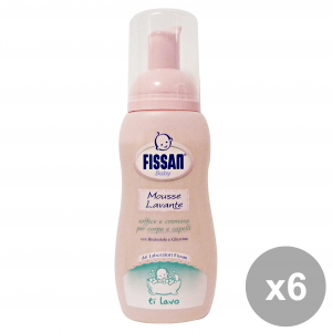 Fissan Set 6 Baby Mousse Washing 200 Ml Line Baby