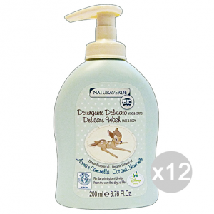 Set 12 NATURAVERDE Bio Disney Detergent Face and body 200 ml Child Care And Newborn