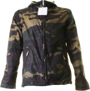 BACI & ABBRACCI men's jacket with hood 100% polyester camouflage camouflage