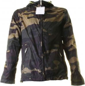 Baci & Abbracci Men's Jacket With Hood 100% Polyester Camouflage Camouflage