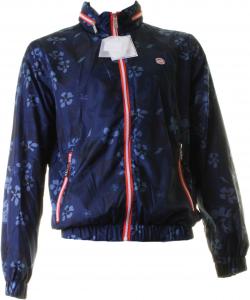 Baci & Abbracci Men's Jacket With Zip 100% Polyester Blue Bm065f-blue