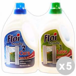 Floi Set 5 Floi Detergent Laundry Curtains Duet Lava + Care 1 + 1 Lt