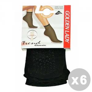 Set 6 Socks Lycra Anti-slip Black 16 Gr