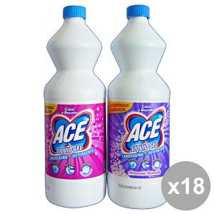 ACE Set 18 1 Lt. Liquid Gel Candele + Detergente Rosa E Viola