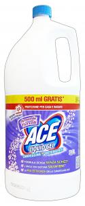 ACE Bleichmittel Gel Flüssig Reinigungsmittel Harmonien Lila Produkt Für den Wäsche 2,5 Lt