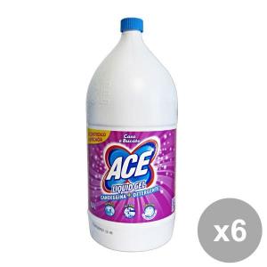ACE Set 6 2,5 Lt. Liquid Gel Candele +Detergente Rosa