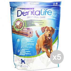 Set 5 DENTALIFE Snack Igiene Dentale Large 4 Pezzi 142 Gr Cibo Per Cani