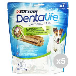 Set 5 DENTALIFE Snack Igiene Dentale Small 7 Pezzi 115 Gr Cibo Per Cani