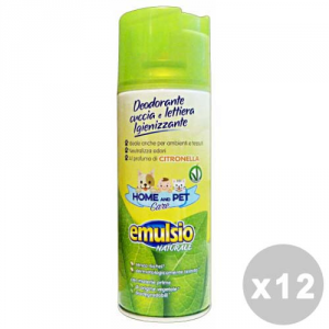 Emulsio Set 12 Emulsio Animal Care Deodorant Litter Box Citronella Spray 400 Ml