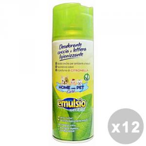EMULSIO Set 12 EMULSIO Pet care deodorante cuccia/lettiera citronella spray 400 ml