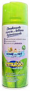 EMULSIO Pet care deodorante cuccia/lettiera lavanda igienizzante spray 400 ml