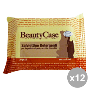 Set 12 BEAUTY CASE Wipes DETER.ANIMALI X 20 Pieces Articles For animals