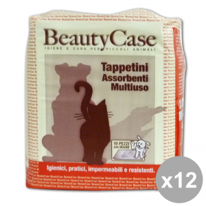 Set 12 BEAUTY CASE TAPPETINI ASS.MULt. 60x60 X 10pz Articoli per animali