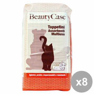 Set 8 BEAUTY CASE TAPPETINI ASS.MULt. 60x90 X 10pz Articoli per animali