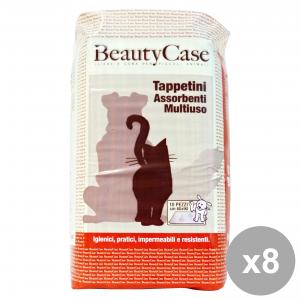 Set 8 BEAUTY CASE TAPPETINI ASS.MULt. 60x90 X 10 pièces Articles Pour animaux