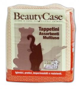 BEAUTY CASE Tapis de sol Ass.mult.60x60 X 10 pièces - Produit Pour animaux