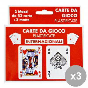 Set 12 CANTINI carte gioco intern. art.15975 feste e occasioni