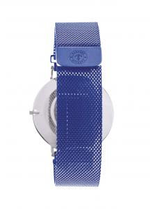 CAPTAIN DEEPESH Moody White Blue Panama Mesh Orologio da polso Taglia MM40 Uomo