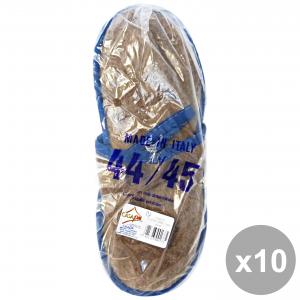 CASAPIU' Set 10 Ciabatte Stoffa SONIA 44-45 CIA0137E Scarpe per il teMP HAIRo libero