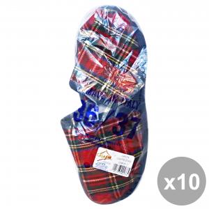 Casapiu Set 10 Slippers Fabric Sonia 36-37 Cia0137a Shoes For The Temp Hairo Free