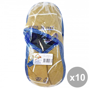 Casapiu Set 10 Slippers Fabric Sonia 42-43 Cia0137d Shoes For The Temp Hairo Free