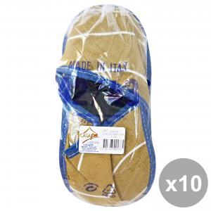 CASAPIU' Set 10 Ciabatte Stoffa SONIA 42-43 CIA0137D Scarpe per il teMP HAIRo libero