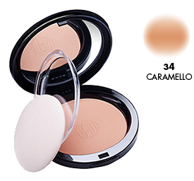Astra Powder Compatta 34 Caramel Cosmetic For The Face