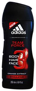 ADIDAS  Doccia Shampoo Team Force 250 Ml. Doccia Schiuma