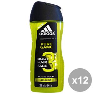 ADIDAS Set 12 Doccia Shampoo Pure Game 250 Ml. Saponi E Cosmetici