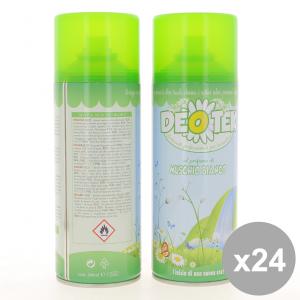 Set 24 DEOTEK Deodorante Spray 400Ml Muschio Bianco - Cura del Corpo