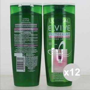 Set 12 ELVIVE Shampoo 250 Phytoclear Antiforfora Len Shampoo E Balsamo