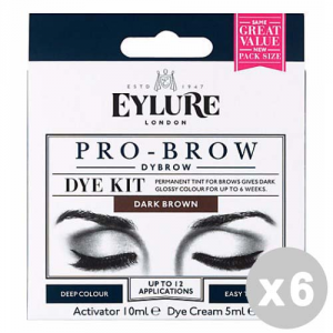 EYLURE Set 6 EYLURE Pro-brow black tinta permanente sopracciglia