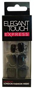 ELEGANT TOUCH Unghie finte adesive black - manicure/pedicure