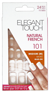 ELEGANT TOUCH Nails Fake 101 Natural French Medium Bare