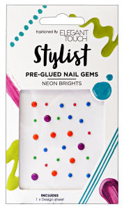 ELEGANT TOUCH Nails Nail Art Gems Pre-collar Neon - Manicure and pedicure