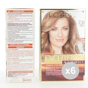 Set 6 EXCELLENCE Age Perfect 7,31 Biondo Ambrato Colore Permanente Tinta per capelli