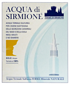 ACQUA DI SIRMIONE Water Thermal Spray Nose X 6 Ampoules Disinfectants